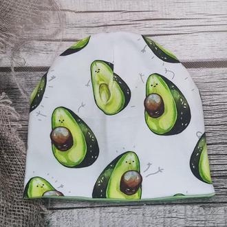Трикотажная шапочка в авокадо