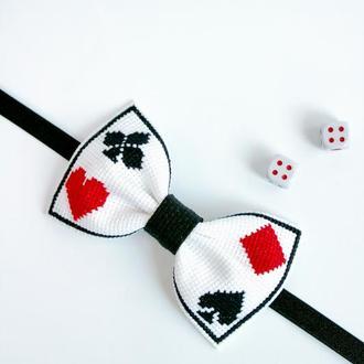 Метелик Гра / Метелик з вишивкою / Вышитая галстук-бабочка