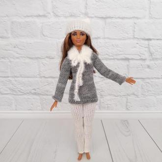 Одежда на Барби, зимний костюм  на куклу, подарок девочке