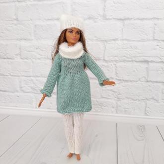 зимовий костюм на ляльку Барбі, одяг на Барбі, подарунок дівчинці
