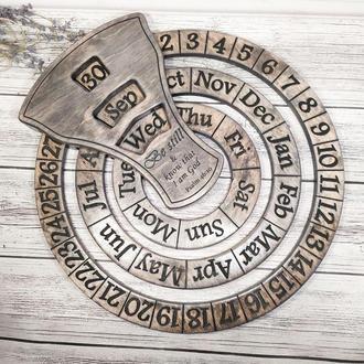 Оригинальный настенный календарь на любом языке с вашим текстом, логотипом