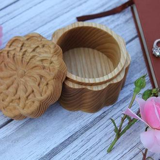 Деревянная Шкатулка Для Хранения Бижутерии, Коробочка в Подарок Любимой, Персонализированная Коробка