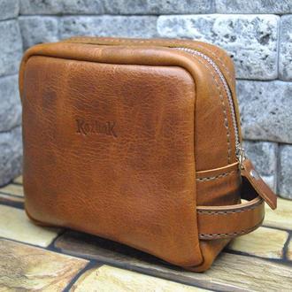 Футляр з натуральної шкіри NES02-brown