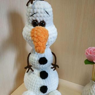 Снеговик Олаф, мягкая игрушка, ручная работа