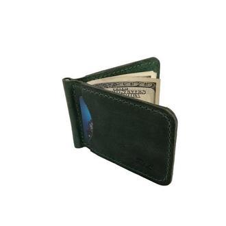 Зелёный кошелек с зажимом хн7 (10 цветов)
