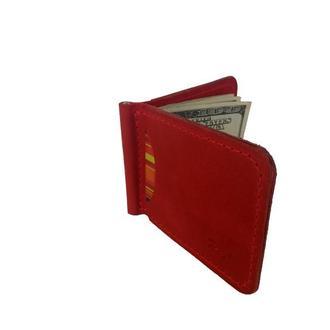 Червоний гаманець з затиском хн7 (10 кольорів)