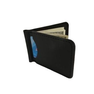 Чёрный кошелек с зажимом хн7 (10 цветов)