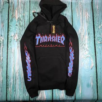 Толстовка чёрная  Thrasher fire