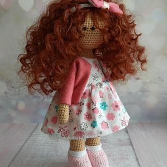 Кудрявая кукла Тильда