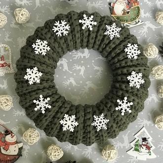 Венок Рождественский венок Новый год декор для дома зимний декор аксессуары для декораций фотореквізит