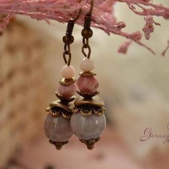 Серьги ′Розовая дымка′