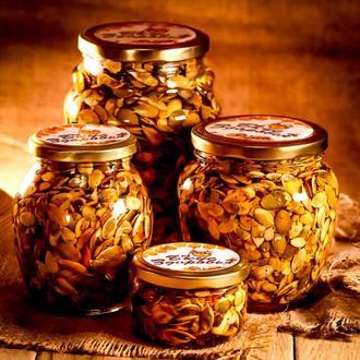 Тыквенные семена в мёде / Орехи в меду / Семечки в меду/ Сладости