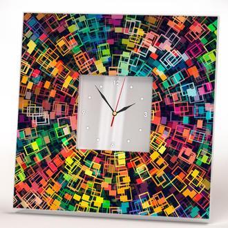 """Часы дизайнерские с декором """"Абстракция"""" в спальню, офис, квартиру, дом"""
