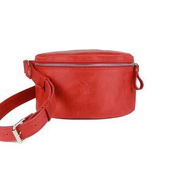 Поясная сумка красная винтажная BeltBag