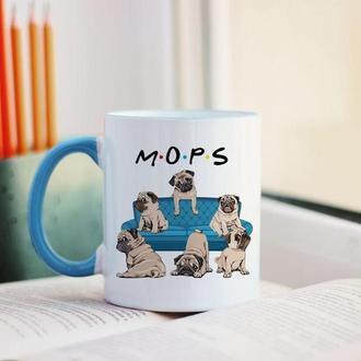 Чашка с мопсами