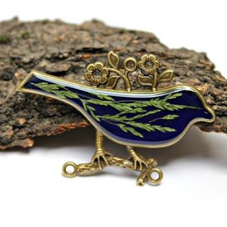 Кулон птица с колосками
