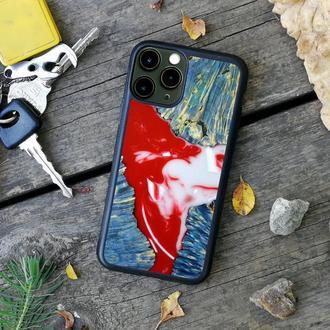 Захисний чохол з дерева і смоли на iPhone 6/7/8/X/Xs/xsmax