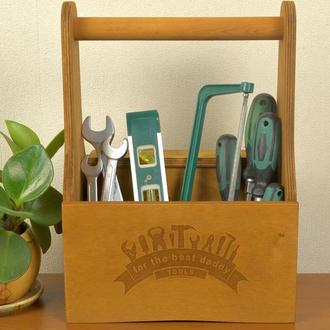 Ящик органайзер из дерева для хранения ручного инструмента, Подарок папе мужу на 14 октября