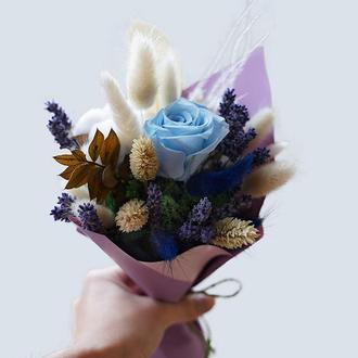 """Букет з стабілізованих квітів """"Deep blue"""""""