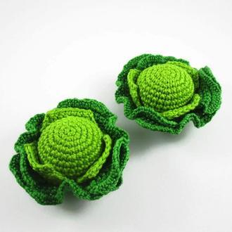 1 шт-Капуста/вязаные овощи/вязаные игрушки в виде еды/тактильные игры