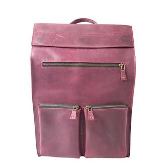 Кожаный рюкзак. 01003/бордо