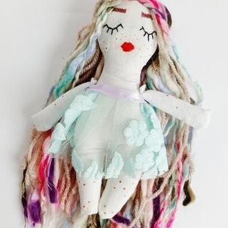 Хранительница снов кукла фея с волшебными волосами вышивка