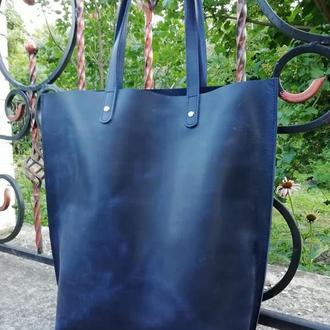 Кожаные сумки шопперы