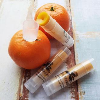 «Мандариновый шот» натуральный бальзам для губ