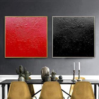 """Модульная картина из 2 частей """"Красное и черное"""""""