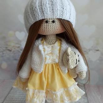 Кукла вязаная Сонечко
