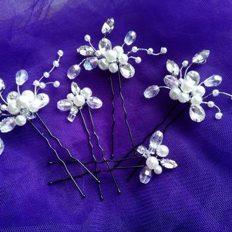 Свадебные шпильки для украшения волос.