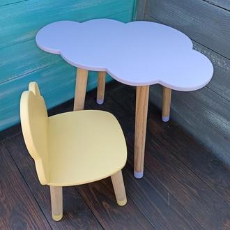 "Детский набор мебели ""Облачко"", стул-облако, стол-облако, мебель из дерева, мебель для детской"