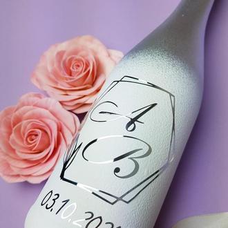 Стильное свадебное шампанское