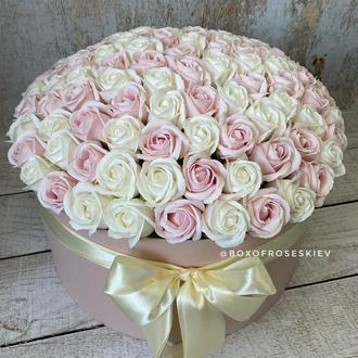 Букет из 101 мыльной розы