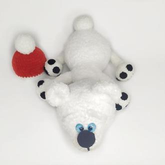 Плюшевый белый мишка, мягкая игрушка северный медведь
