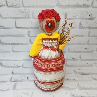 Кукла мотанка Берегиня пасхальная с яйцом