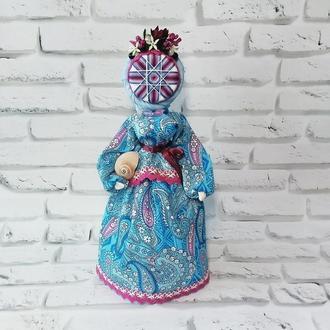 Кукла-мотанка Берегиня с символом Алатырь