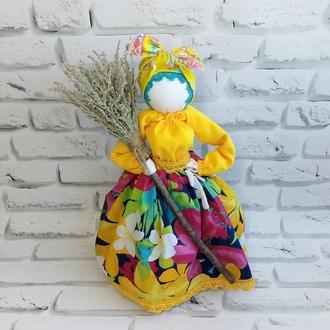 Кукла мотанка Метлушка оберег для дома