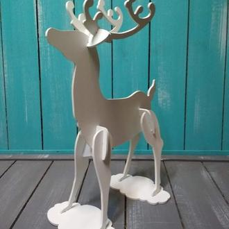 Декоративный олень, новогодний декор, разборная фигура оленя, новогодний олень из ПВХ