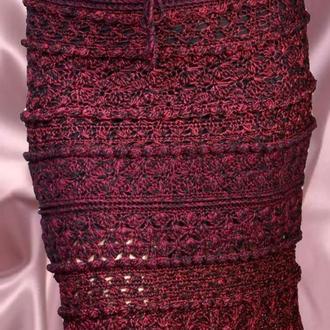 Шелковая вязаная юбка