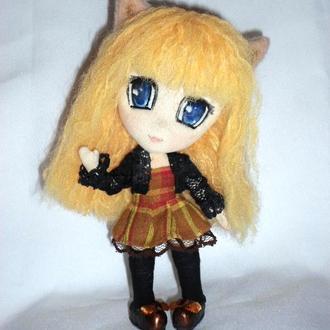 Неко аниме чибик,Алиса.