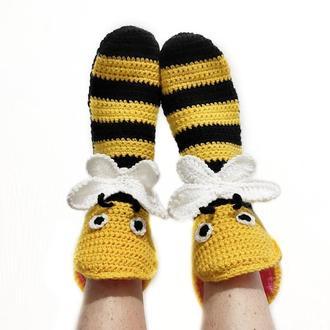 Носки-пчелы