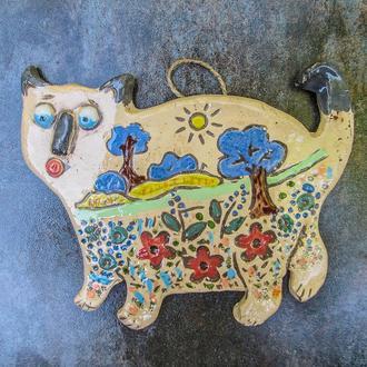 Кіт на прогулянці кольоровий