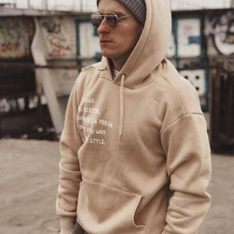 ⁣ХУДІ BEIGE FLEECE