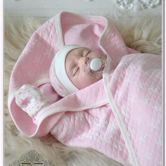Плед на выписку для новорожденных Звезды