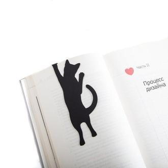 """Закладка для книг """"Кот достает книгу с полки"""""""