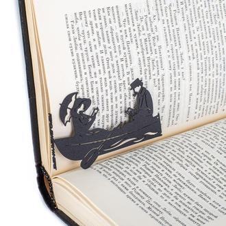 """Закладка для книг """"Читающие в лодке"""""""