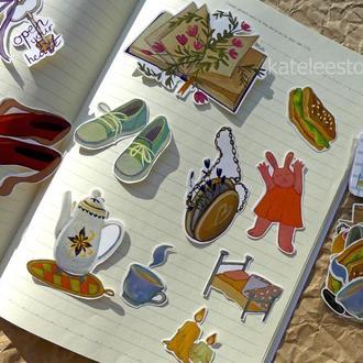 Набор уютных стикеров наклейки для планера; стикерпак