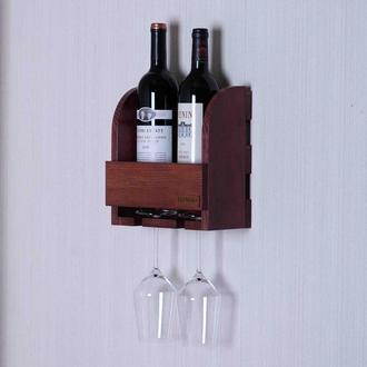 Полочка-бар RED для бутылок и бокалов
