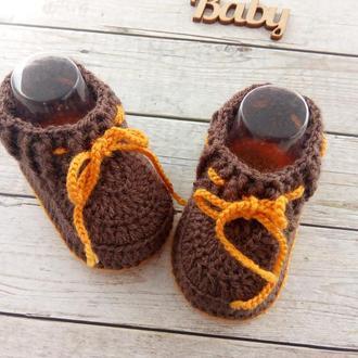 Вязаные пинетки, пинетки носочки